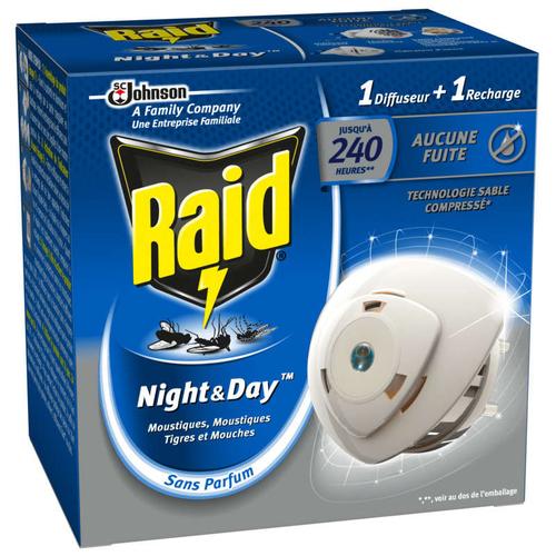 Raid Night & Day Diffuseur Anti-Moustiques Jours et Nuits 240h