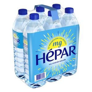 Hepar eau minérale naturelle pack de 6x1L.