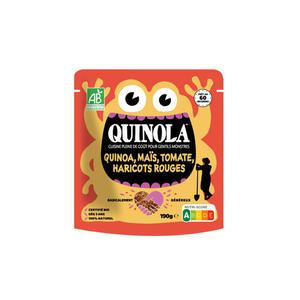 Quinola Kids Quinoa Tex Mex Haricots Rouges Maïs & Tomates 190g
