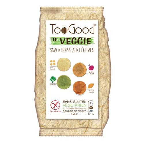 TooGood Veggie Snack poppé aux légumes 85g.