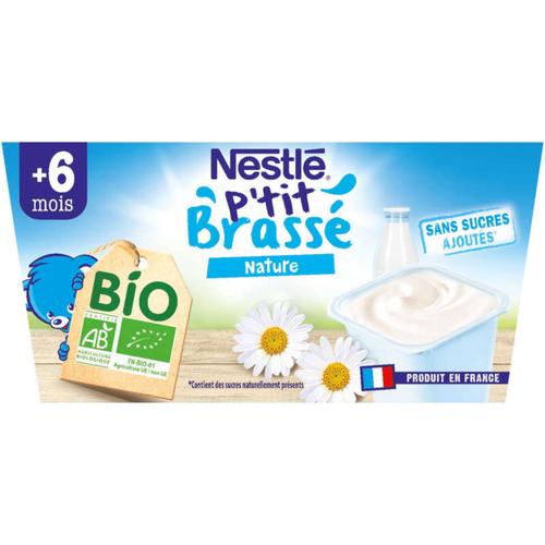 Nestlé P'Tit Brassé Nature Bio  4x90g