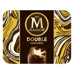 Magnum Glace Bâtonnet Double Caramel x4 352ml