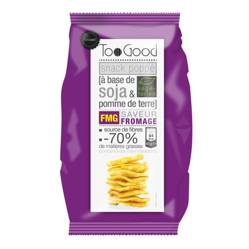 Toogood Snack Poppé à base de soja & pomme de terre goût Fromage 85g