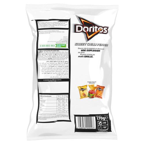 DORITOS Tortilla Chips Saveur Sweet Chilli Pepperle Sachet de 170g