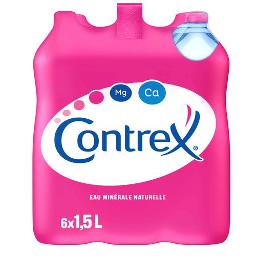 Contrex eau minérale naturelle pack de 6x1,5L.