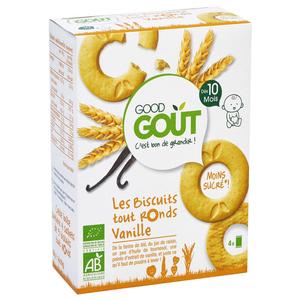 Good Goût Biscuits Bio Vanille Dès 10 Mois 80g.