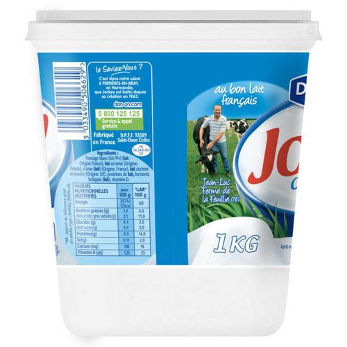 Jockey Fromage blanc nature 3% mg 1kg