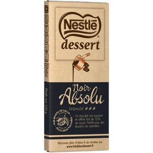 Nestlé Dessert Tablette Chocolat Noir Absolu 170g.