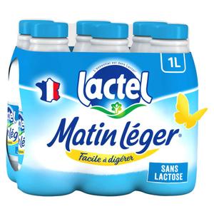 Lactel Matin Léger demi-écrémé bouteille 6x1L