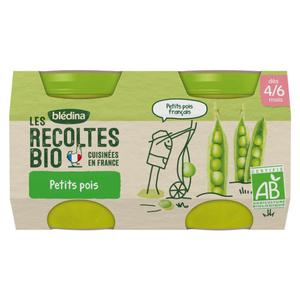 Blédina Petits Pots Bio Petits Pois Dès 4/6 Mois 2x130g