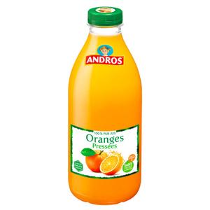 Andros Jus d'oranges pressées 100% pur jus 1L