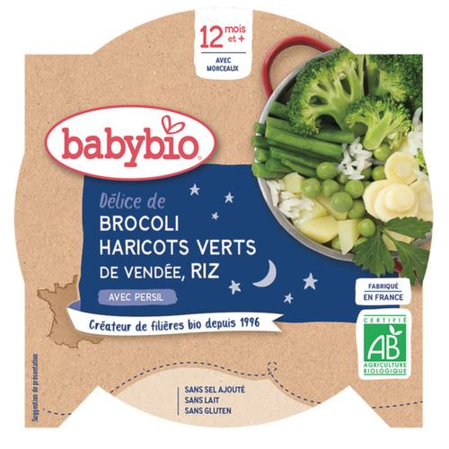 [Par Naturalia] Babybio Assiette Légumes Verts et Riz 12M 230g Bio