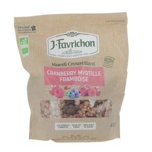 [Par Naturalia] Favrichon Muesli Cranberry, Myrtille & Framboise 450G Bio