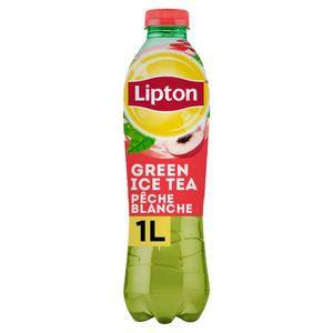 LIPTON Green Ice Tea Thé Glacé Saveur Pêche Blanche la Bouteille de 1L