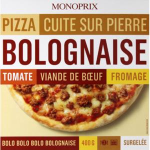 Monoprix pizza bolognaise surgelée 400g