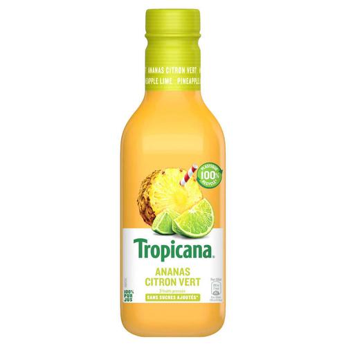 Tropicana Pur Jus Frais d'Ananas Citron Vert la Bouteille de 90cl