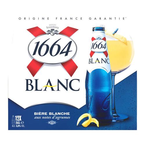 1664 Bière blanche aromatisée agrume 12x25cl