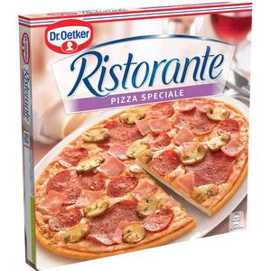 Dr.Oetker Ristorante pizza surgelée au salami, jambon et champignons 385g.