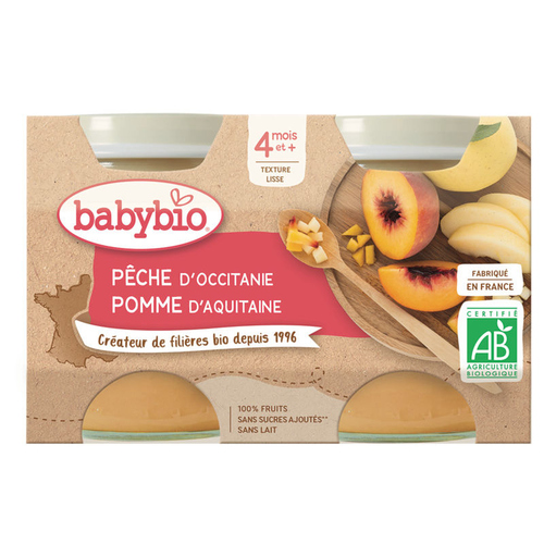 Babybio Pêche Pomme d'Aquitaine 260g