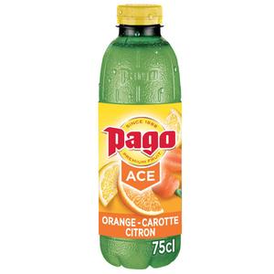 Pago jus d'orange carotte et citron la bouteille de 75cl.