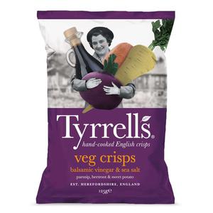 Tyrrells Chips Légumes Veg Crips au Vinaigre Balsamique & Sel de Mer 125g