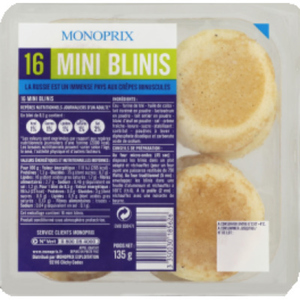 Monoprix Mini blinis 135g