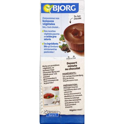 Bjorg Boisson soja chocolat, bio 1L