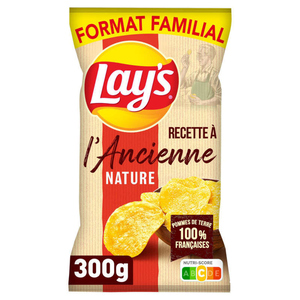 Lay's Chips à l'ancienne nature format familial 300 g