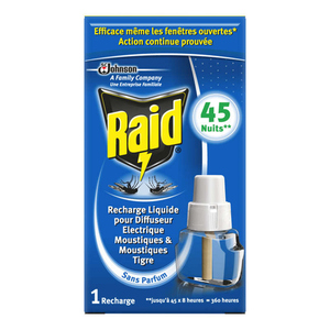Raid recharge pour diffuseur anti-moustiques