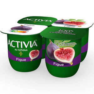 Activia Yaourt aux fruits figue bifidus 4x125g